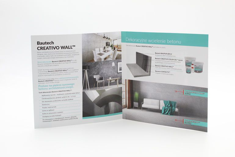 Folder reklamowy dla firmy budowlanej