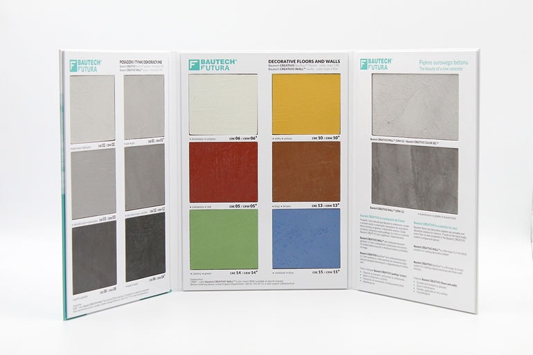 projekt i skład - wzornik kolorów Bautech