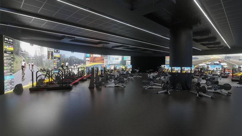 Wizualizacja wnętrza - klub rowerowy