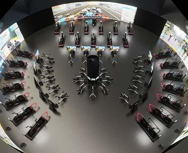 Wizualizacja 3D wnętrza klubu fitness