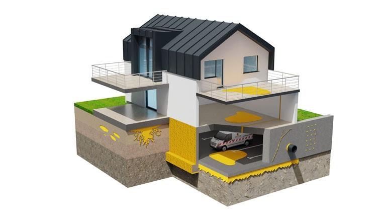Przekrój 3D budynku