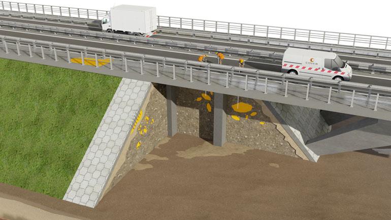 Przekrój 3D wiaduktu